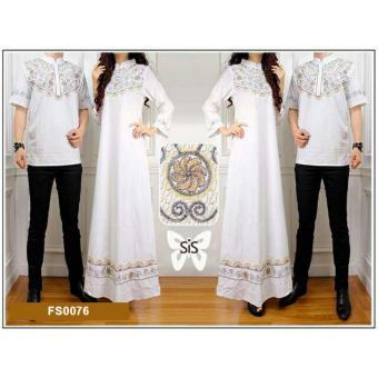 Daftar Harga Flavia Store Baju Muslim Couple FS0076 - PUTIH / Batik Pasangan / Sepasang Busana / Kemeja Pria Gaun Muslimah Gamis Wanita / Srelegant eShop ...