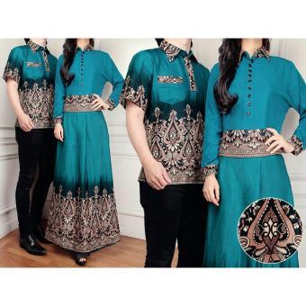 harga Flavia Store Batik Couple FS0283 - TOSCA / Baju Muslim Pasangan / Sepasang Busana / Kemeja Pria Gaun Muslimah Gamis Wanita / Tzcpmiranda Lazada.co.id