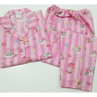 Fortune Fashion Piyama CP Twin Little Star - Pink