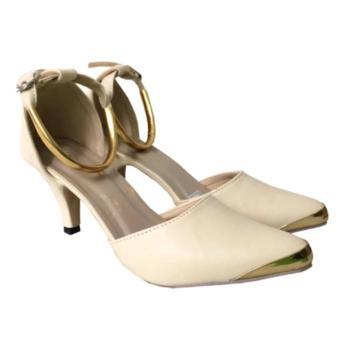 Review of Fuboshoes High Heels Carissa Gelang - Cream belanja murah - Hanya Rp67.620