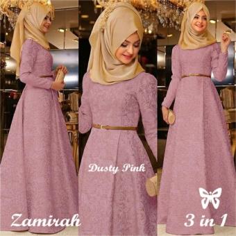 ... Gamis Baju Wanita muslim Zamirah Syari Pink