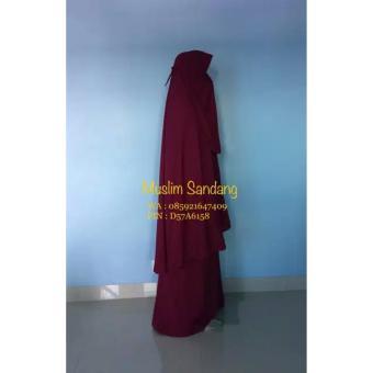 Gamis Syar'i Ayuk Collection / Merah maroon - 2