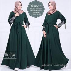 Almeera Hijab Instant Wanita 02 - Hijau. Diindri Milla Hijab Instan Dusty Green Hijau.