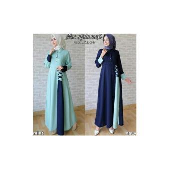 Jual Gamis Syari New Afida Dress Baju Murah Wanita