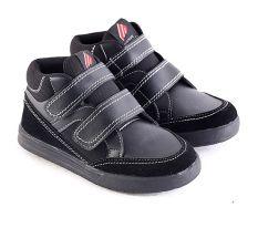 Garsel L240 Sepatu Sneaker/ Sekolah Anak Laki-Laki - Synth - Bagus (Hitam)