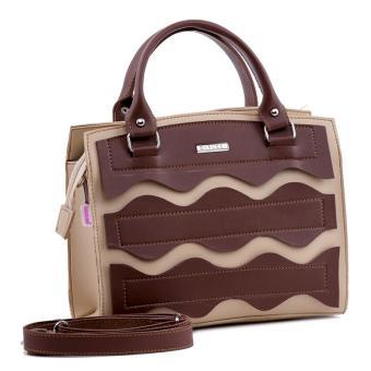 Garucci Tsf 0902 Tas Handbag Bisa Selempang Wanita-Colombo-Menarik(Cream Kombinasi)