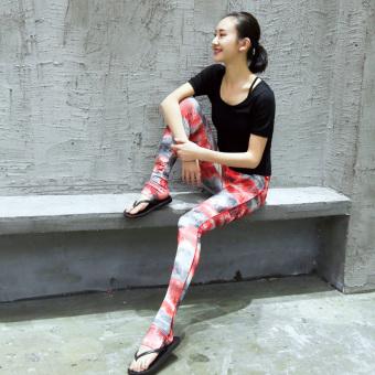 Beli GAUENEEN lengan pendek pertunjukan Slim Kebugaran Pakaian pakaian yoga  baru (G6066 hitam + G8001 hitam + N6171 Naruto) Murah 9203bf682e