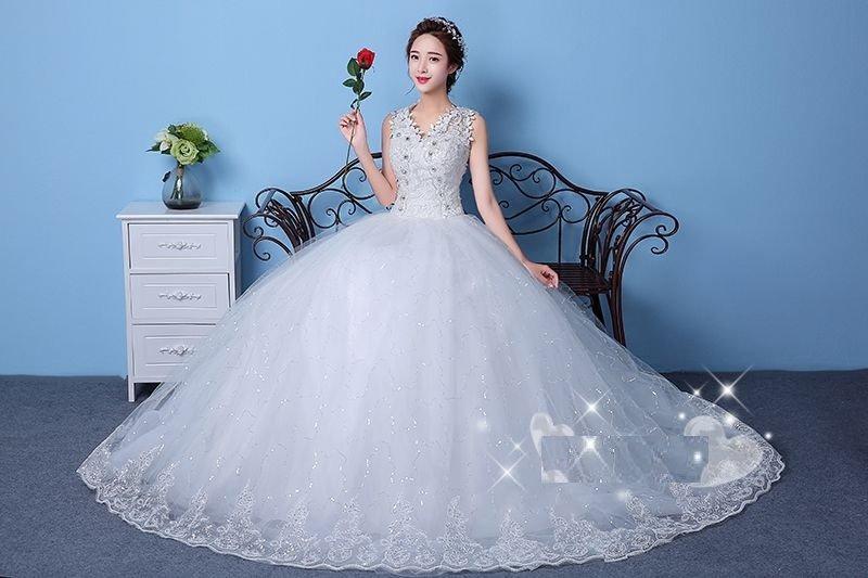 Gaun Pengantin Putih Wedding Gown Wedding Dress 2016 09007 .