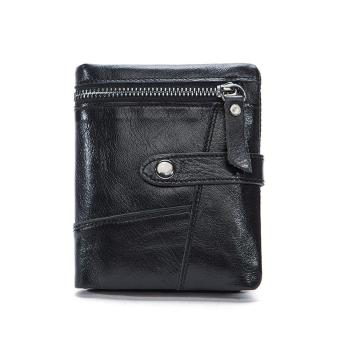 Genuine Leather Men Wallets Leather Man Short Wallet Vintage - intl