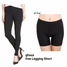 ghasa legging wanita polos - free legging short