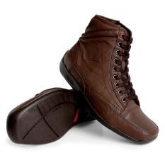 Gino Mariani  Men's Shoes Elario 2 Leather- Coklat Tua