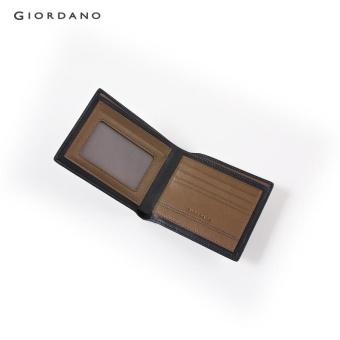 Gambar Produk Rinci Giordano Men Logo bi-fold wallet 92145525 Khaki - intl Terkini