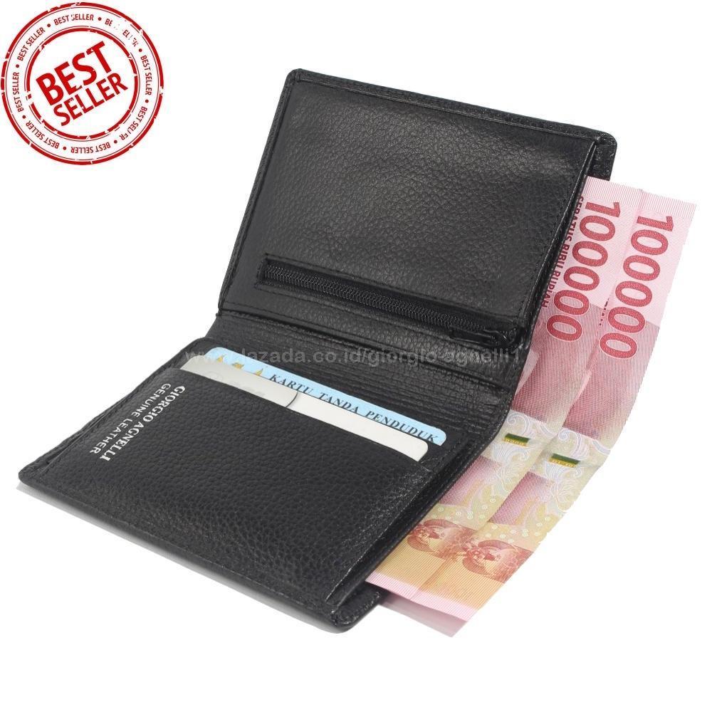 Giorgio Agnelli Dompet Kulit Pria Slim Men Wallet Hitam Kulit Asli GA .