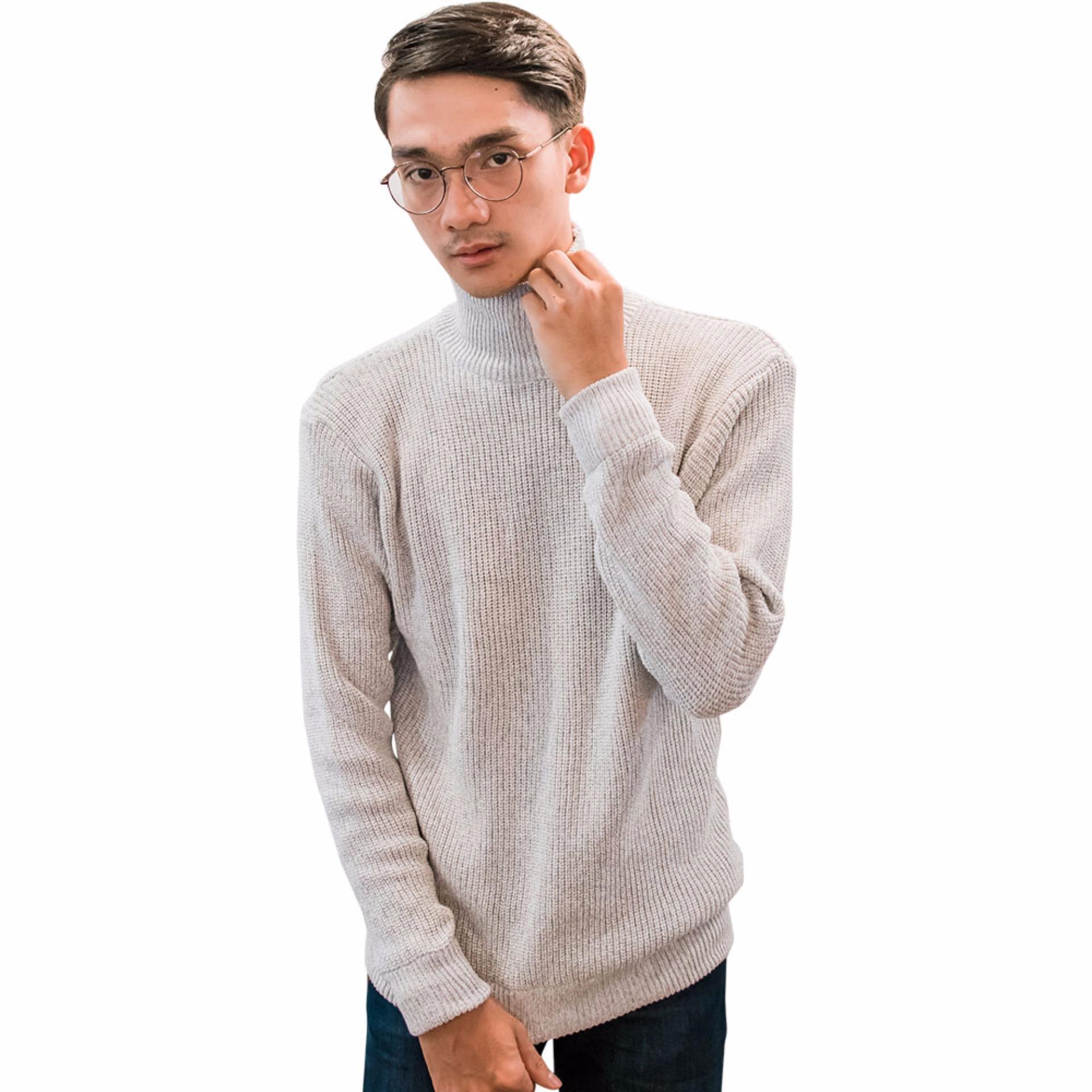 Gomuda Sweater Rajut Cord Turtleneck Putih Daftar Update Harga Pria O Neck Navor