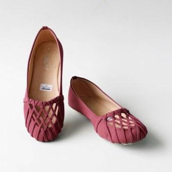 Gratica Sepatu Flat Shoes 074DD - Maroon - 3