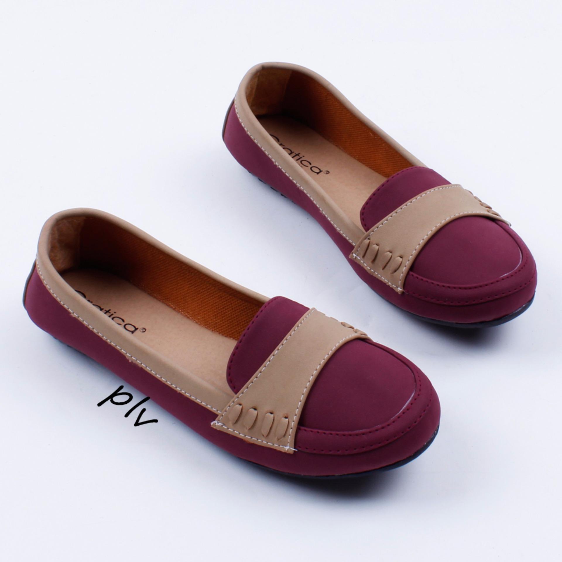 Flash Sale Gratica Sepatu Flat Shoes DS20 - Maroon