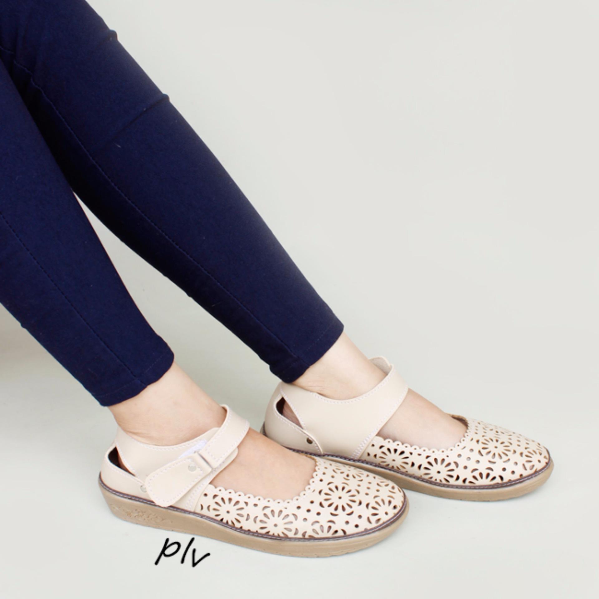 Grivera Sepatu Wanita Flat Shoes Laser B20 Tan Daftar Update Harga Belakang Cream My81