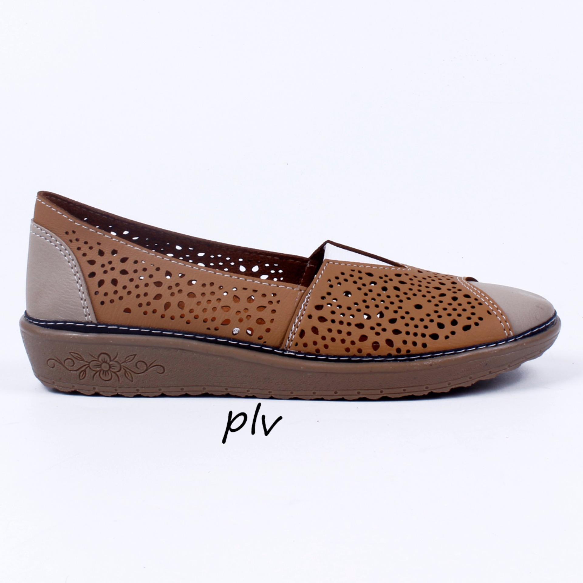 Grivera Sepatu Wanita Flat Shoes Laser MY88 - Tan ...