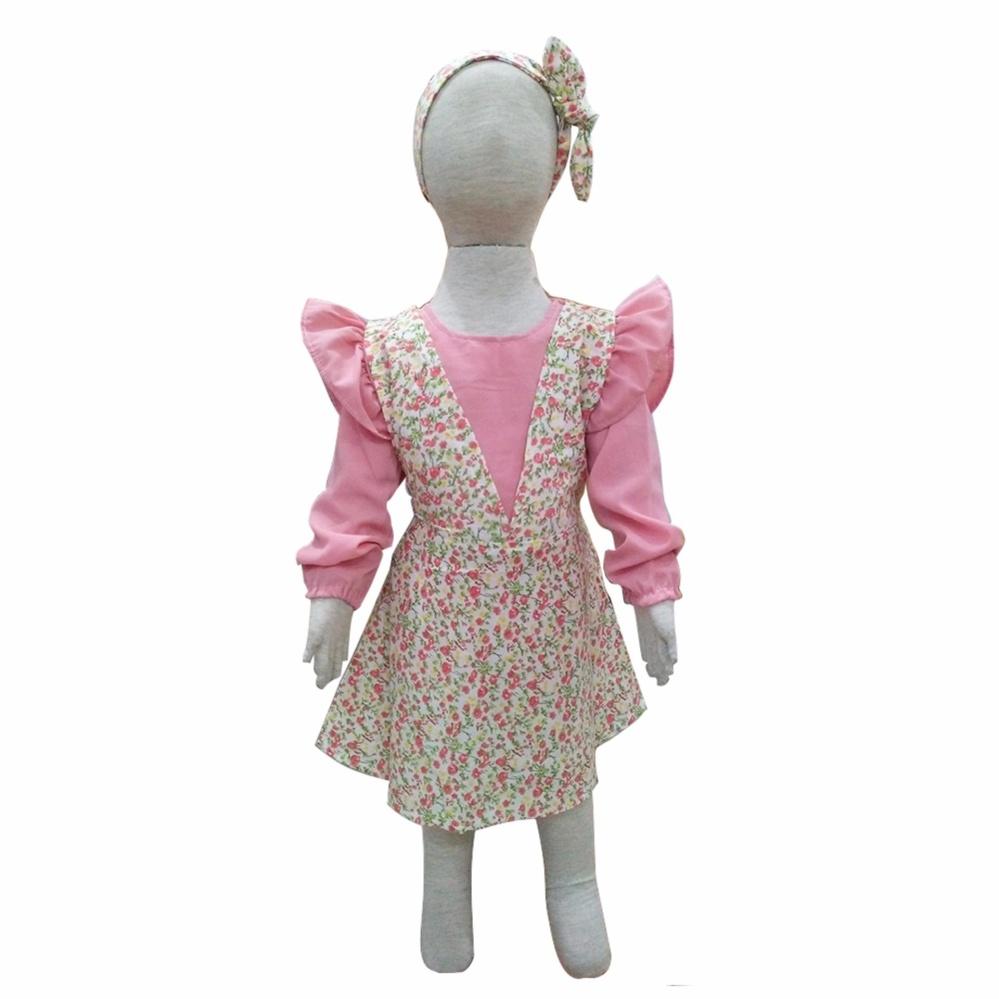 Grow Baju Gaun Anak Puan( Grow Puan Gown Dress Clothes Child ) Peach