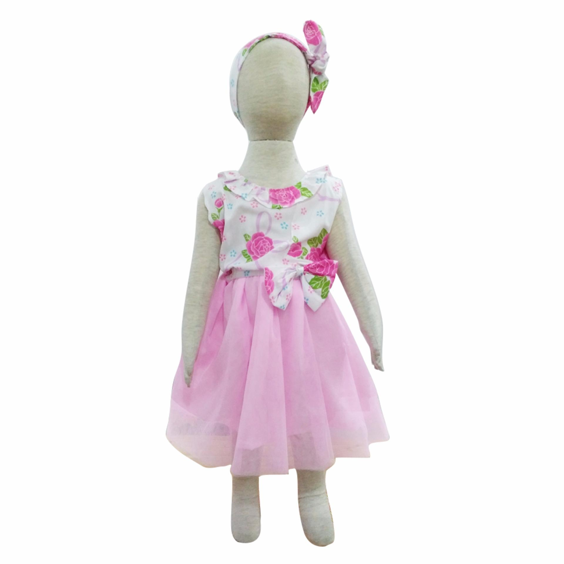 Grow Baju Gaun Pesta Anak Perempuan Tilla ( Grow Tilla Gown Dress Clothes Child Girl ) Multicolor