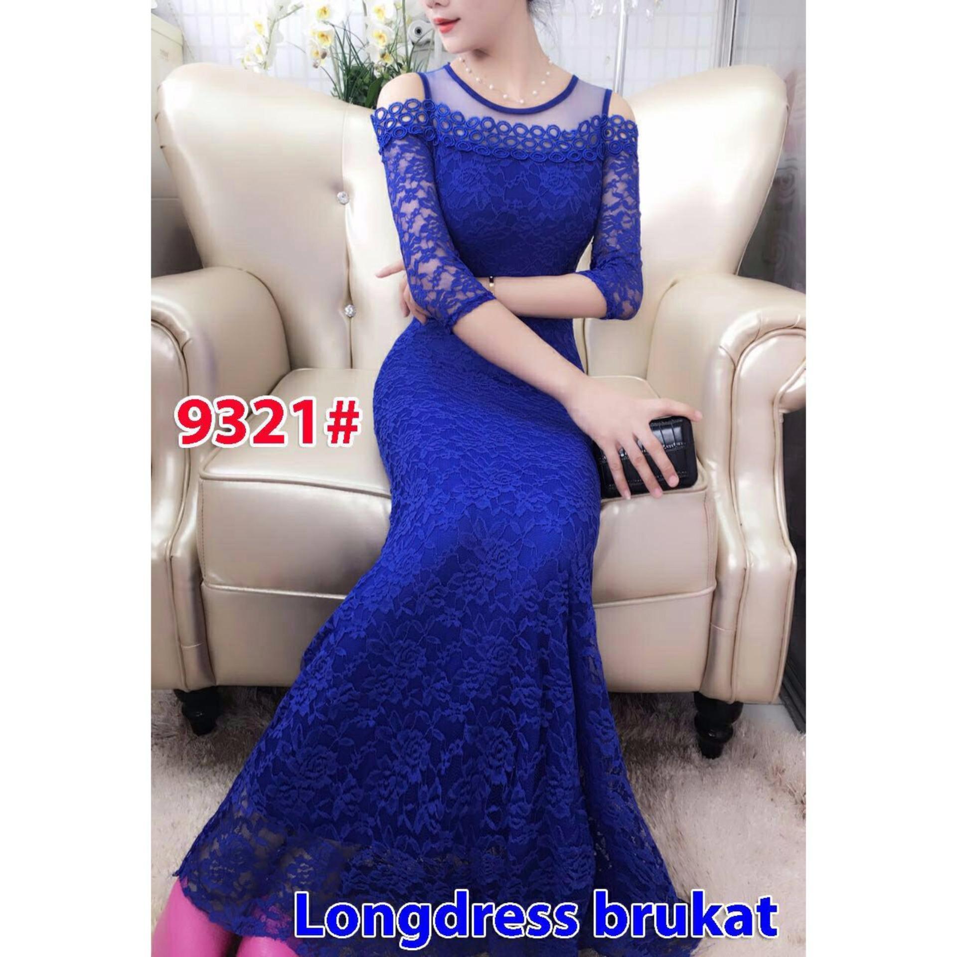 Dress Brukat Cari Bandingkan Gsd Long 9321 Blue Harga Penawaran