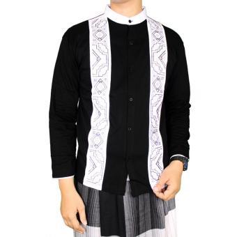 Gudang Fashion - Baju Koko Hitam Putih - Hitam