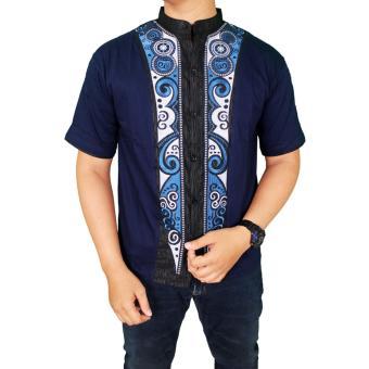Gudang Fashion - Baju Modern Koko Pria - Biru Tua