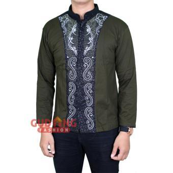 Gudang Fashion - Baju Muslim Pria Keren - Hijau Lumut