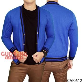 Gudang Fashion - Cardigan Fleece Terbaru - Biru Tua