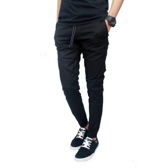 Gudang Fashion - Celana Jogger Pria Panjang - Hitam - 2