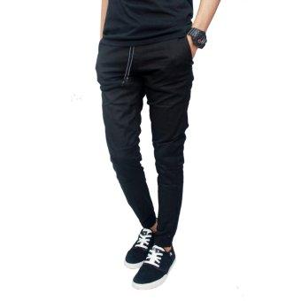 Gudang Fashion - Celana Jogger Pria Panjang - Hitam - 4