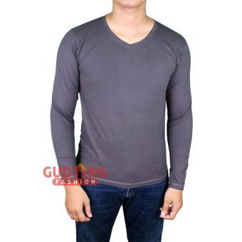 Gudang Fashion - Kaos Casual Pria Simple Elegan - Abu