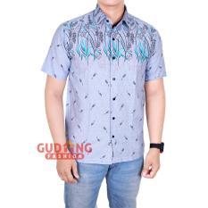 Panjang Eksklusif Biru Source Kemeja Batik Pria Slimfit Modern Lengan Pendek Batik Kombinasi .