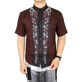 Gudang Fashion - Koko Lengan Pendek Pria - Coklat Tua