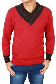 Gudang Fashion - Sweater Pria Distro - Merah