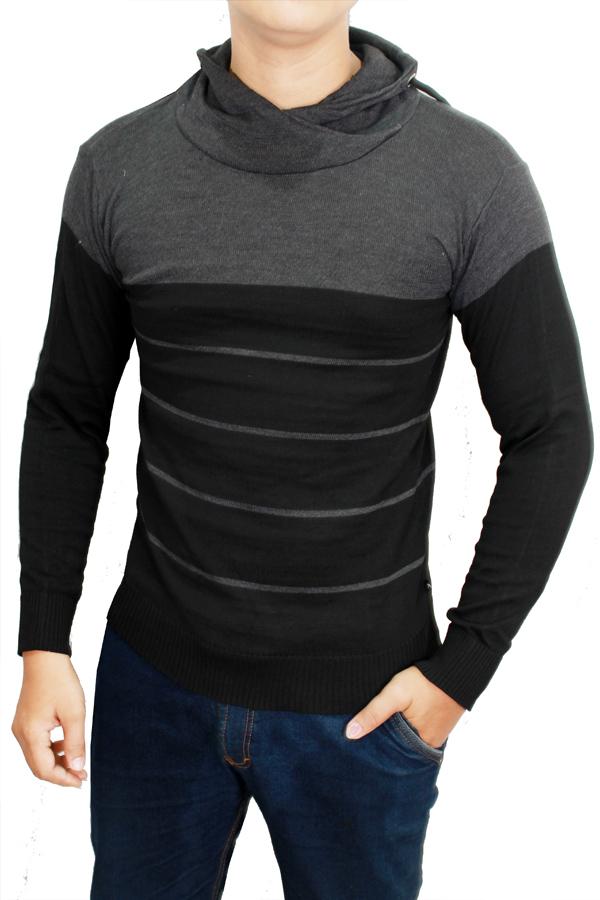 Gudang Fashion - Sweater Pria Elegan - Kombinasi Warna