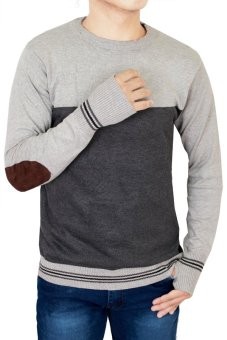 Gudang Fashion - Sweater Pria Keren - Abu Kombinasi