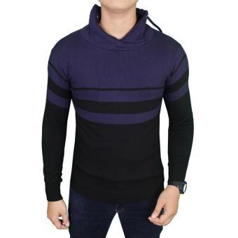 Gudang Fashion Sweater Rajut Keren Pria Hitam Dongker