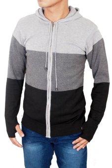 Gudang Fashion - Sweater Rajut Untuk Pria - Abu