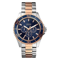 Guess - Jam Tangan Pria Multifunction - Silver - Strap Stainless Steel - W0172G3