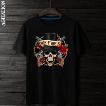 harga Guns N 'roses katun busana pria baru kemeja kasual t-shirt (Hitam) Lazada.co.id