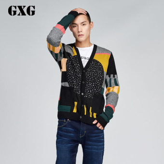 Jual Gxg Korea Fashion Style Musim Gugur Pria Slim Sweater Kardigan Warna Hitam Di