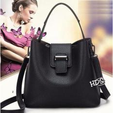 Hand Bag Korean Style Bulva ( Tas Jinjing / Tas Bahu/ Tas Selempang Korean Style) Black