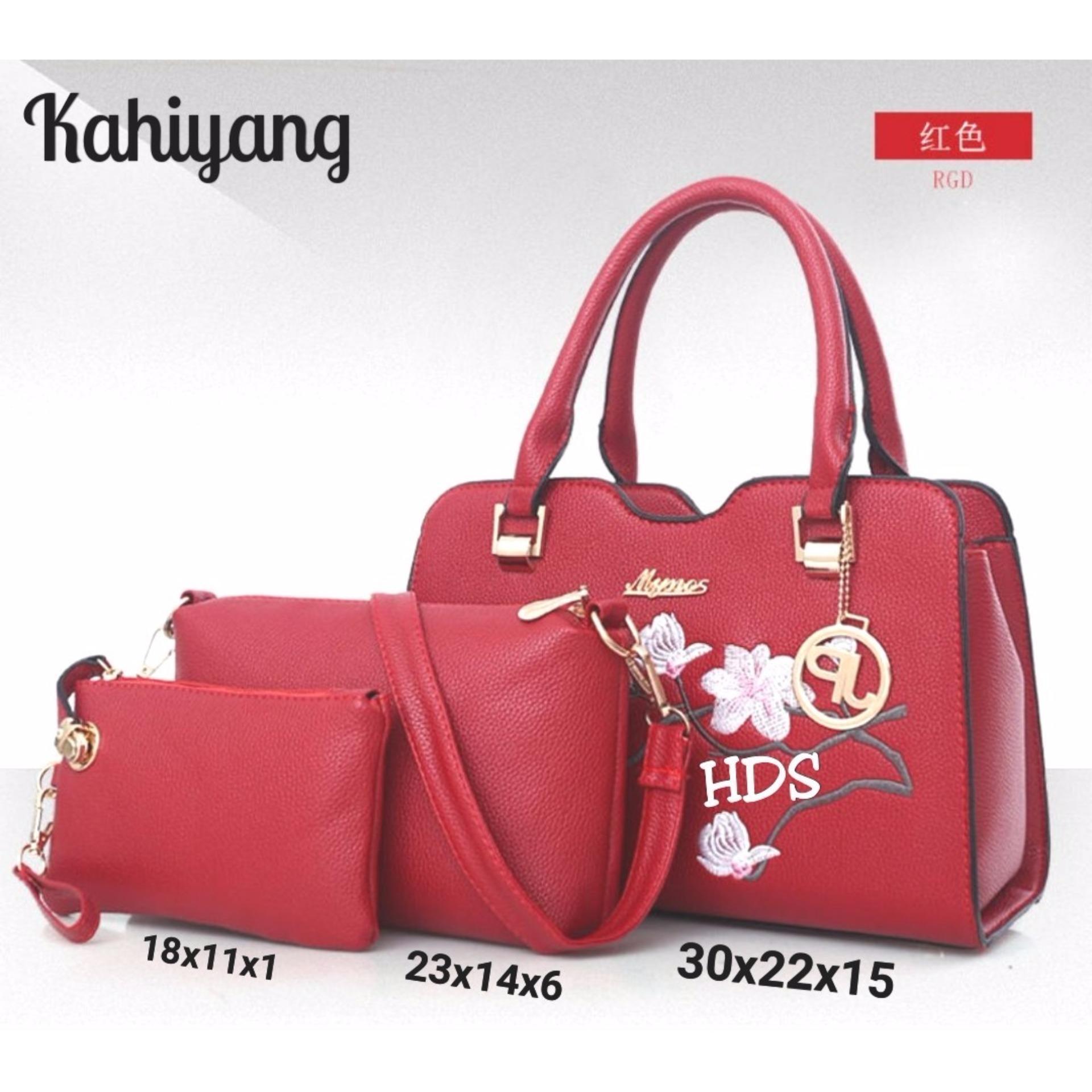 Tas wanita cewek paket 3in1 murah hand bag kantor elegan kado istri Source ·