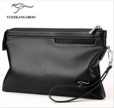 Handbags, men, handbags, hand bag, fashion Korean version, casual business package, Black - intl