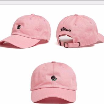 Hanyu busana Korea ulzzang Mawar baru bordir wanita Solid Hip-pop bisbol topis topi (