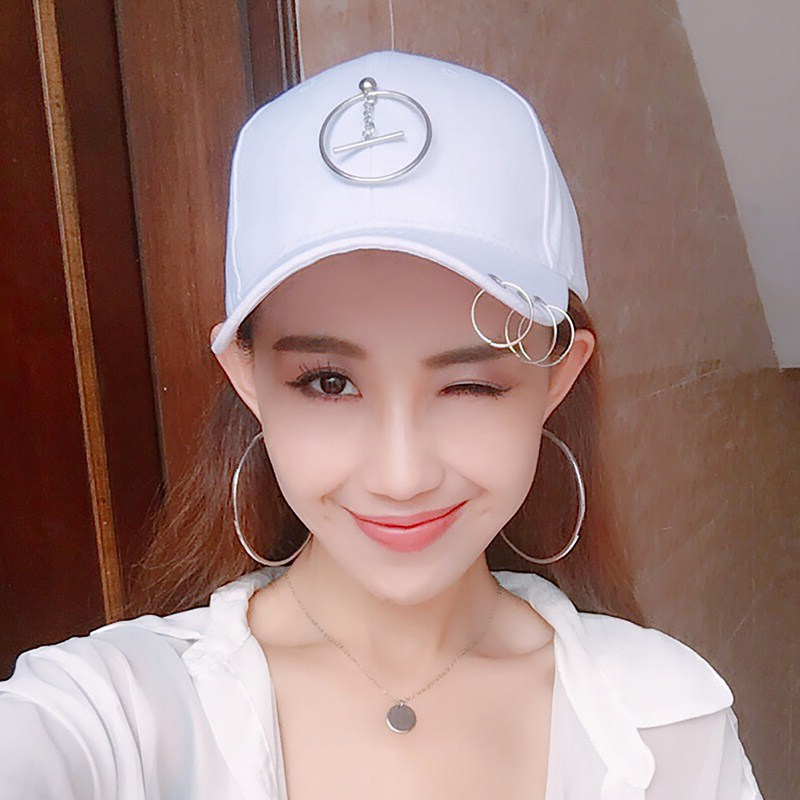 Flash Sale Hari kepribadian pasang patch yang laki-laki ms. topi Korea  Fashion Style bisbol topi (Taman kecil bar putih) d95611f4d3