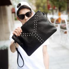 HB6618 Handbag Kulit Pria ETONWEAG Tas Tangan Clutch Man Trend Rivet
