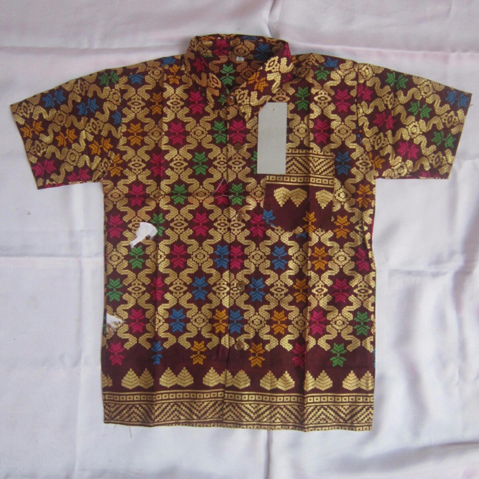 Mayura Batik Kemeja Anak Laki Lucky Biru Daftar Harga Produk Ukm Bumn Atasan Tenun Pria Lengan Pendek Merah Marun Hem Baju 2