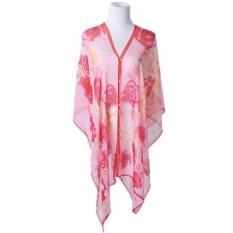 Hequ Summer Scarf Shawl Beach Sunscreen Bikinis Beach Towel Bikinis Elegant Blouse Red - intl